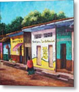 Chiapas Neighborhood Metal Print by Candy Mayer