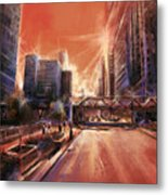 Chicaco Street 3 Metal Print