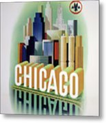 Chicago American Airlines 1950 Metal Print
