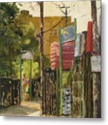Chicago Andersonville Alley Metal Print