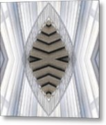 Chicago Art Institute Staircase Mirror Image 04 Vertical Metal Print