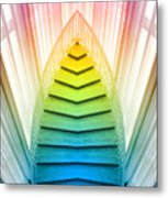 Chicago Art Institute Staircase Pa Prism Mirror Image Vertical 02 Metal Print