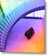 Chicago Art Institute Staircase Pa Prismatic Metal Print