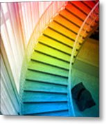 Chicago Art Institute Staircase Pa Prismatic Vertical 02 Metal Print