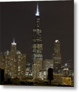 Chicago At Night I Metal Print