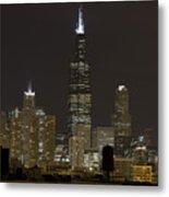 Chicago At Night I Metal Print