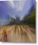 Chicago Beach Zoom Blur Metal Print
