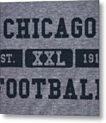 Chicago Bears Retro Shirt Metal Print