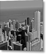 Chicago Birdview Metal Print