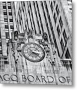 Chicago Board Of Trade Bw Metal Print