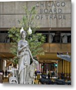 Chicago Board Of Trade Signage Metal Print