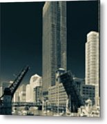 Chicago Bridges-2 Metal Print