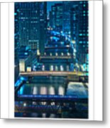 Chicago Bridges Poster Metal Print