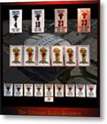 Chicago Bulls Banners Collage Metal Print