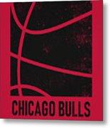 Chicago Bulls City Poster Art 2 Metal Print