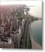 Chicago Coastline Metal Print