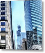 Chicago Concrete Canyons Metal Print