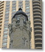 Chicago Contrast Metal Print