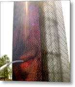 Chicago Crown Fountain 4 Metal Print