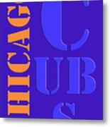 Chicago Cubs Baseball Team Vintage Original Typpography Metal Print