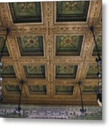 Chicago Cultural Center Staircase Ceiling Metal Print
