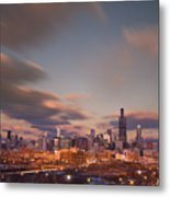 Chicago Dusk Metal Print