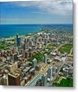 Chicago East View Metal Print