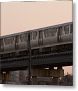 Chicago El Metal Print