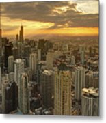 Chicago Evenings 2 Metal Print