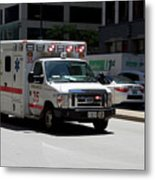 Chicago Fire Department Ems Ambulance 35 Metal Print