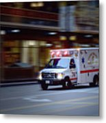 Chicago Fire Department Ems Ambulance 74 Metal Print