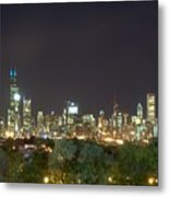 Chicago From Comiskey Metal Print