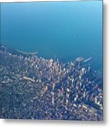Chicago From Way Up Metal Print