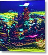 Chicago Gold Coast Abstract Metal Print