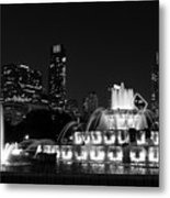 Chicago Grant Park Grayscale Metal Print