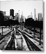 Chicago Grant Park Railroad Skyline Metal Print