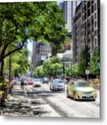 Chicago Hailing A Cab In June Metal Print