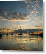 Chicago Harbor Sunrise Metal Print