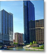Chicago Heading Up The North River Branch Metal Print