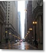 Chicago In The Rain 2 Metal Print