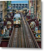 Chicago L Metal Print