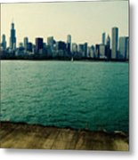 Chicago Lake Michigan Skyline Metal Print