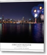 Chicago Lakefront Skyline Poster Metal Print