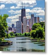 Chicago Lincoln Park Lagoon Metal Print