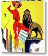 Chicago, Lion, Shopping Woman Metal Print
