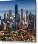 Chicago Looking East 01 Metal Print