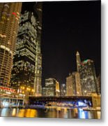 Chicago - Looking East From Dearborn Street Metal Print