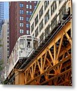Chicago Loop 'l' Metal Print