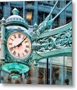 Chicago Marshall Field State Street Clock Metal Print