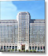 Chicago Merchandise Mart South Facade Metal Print